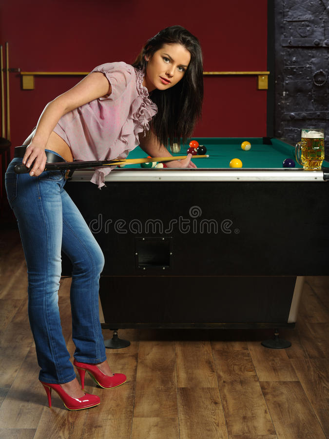Playing Pool Stock Images