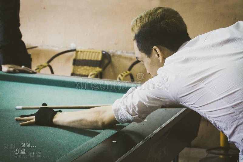 Playing Pool royalty free stock photos