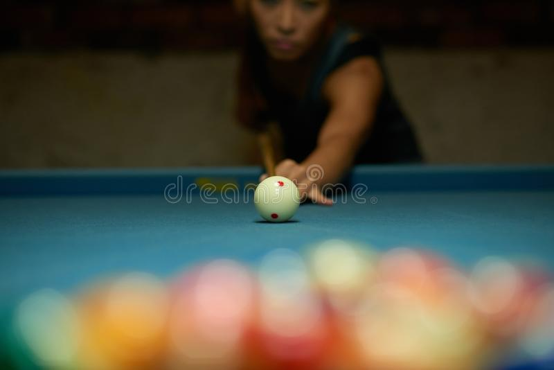 Playing pool stock photos