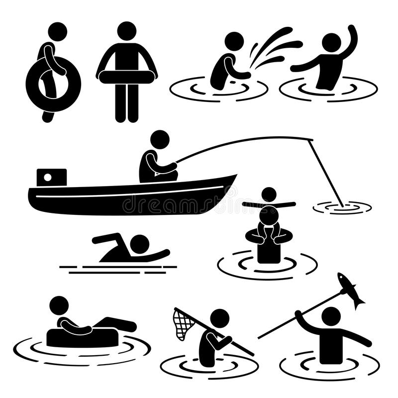 Download Playing at River and Water stock vector. Image of enjoying - 27266147