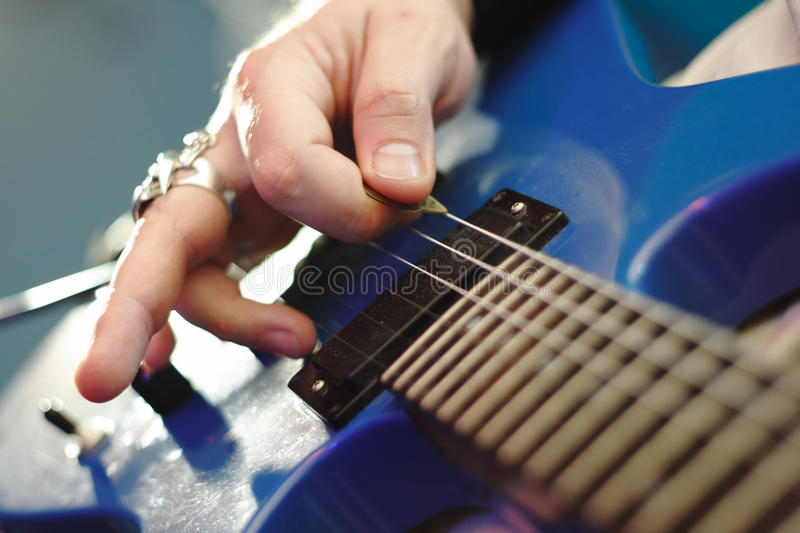 Playing rock stock photography