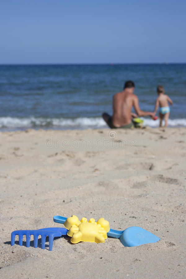 Download Playing on the sand stock photo. Image of beach, summer - 26212842