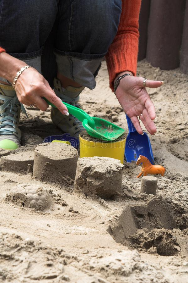 Download Playing in the Sand stock image. Image of digging, construction - 3024021