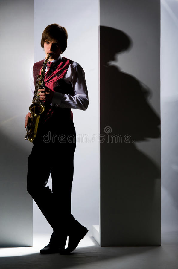 Download Playing the saxophone stock photo. Image of caucasian - 24228562