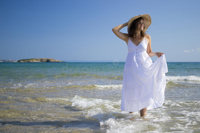 Download Playing with the sea stock photo. Image of people, freedom - 25986270