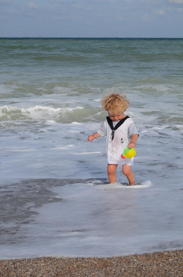 Download Playing in the sea stock photo. Image of cute, water - 27455266