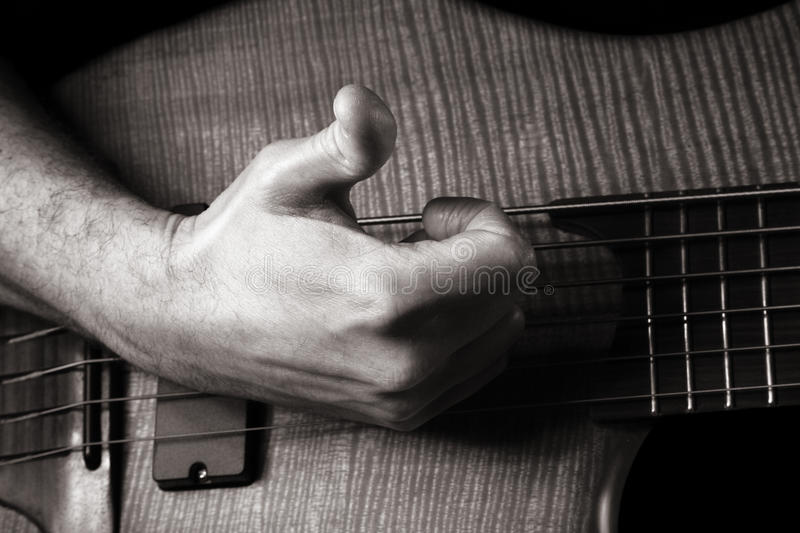 Download Playing Six-string Electric Bass Guitar Stock Image - Image: 17467611