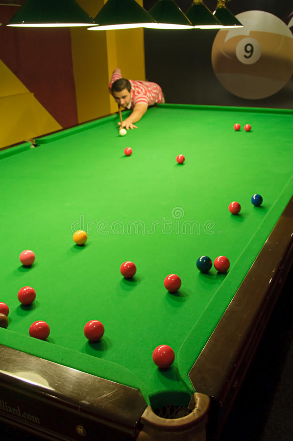 Playing Snooker Stock Photo