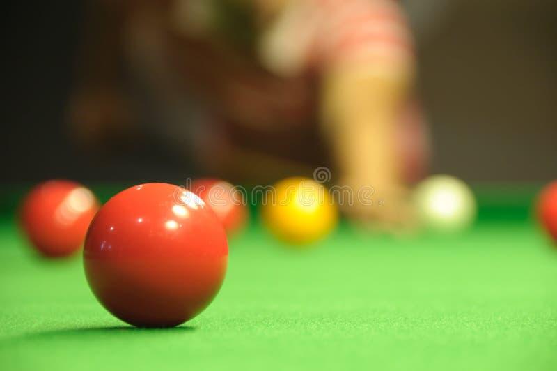 Playing snooker stock photos