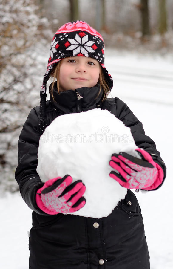Download Playing with snowball stock photo. Image of seasonal - 22963816