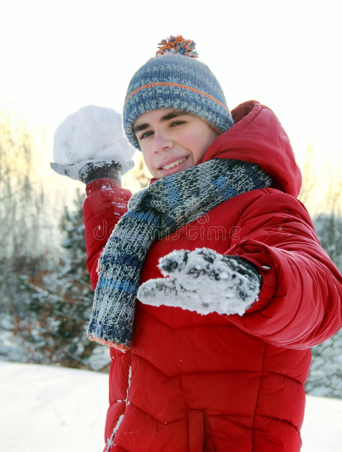 Download Playing snowballs stock image. Image of christmas, freeze - 28186843