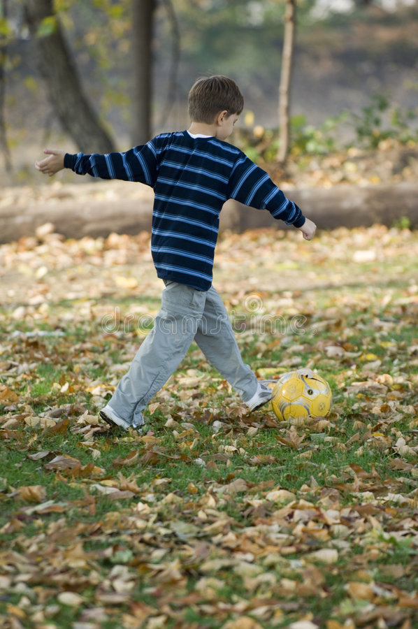 Download Playing soccer stock photo. Image of park, family, autumn - 323792
