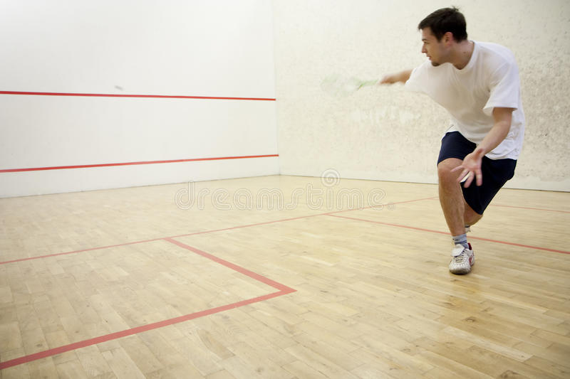 Playing squash stock photography