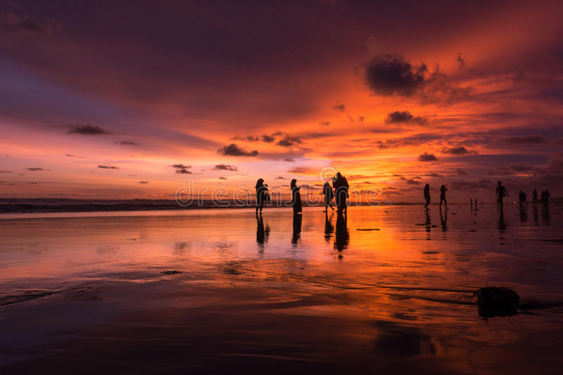 Playing when the sun sets royalty free stock photography