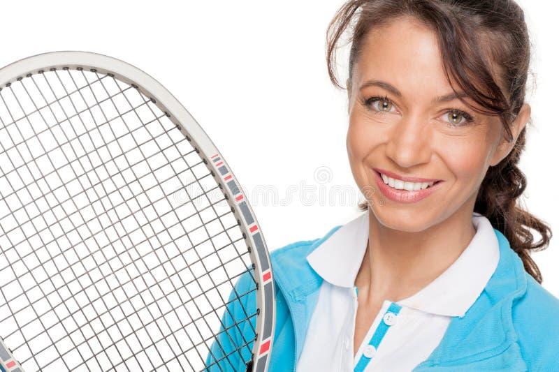Playing tennis royalty free stock image