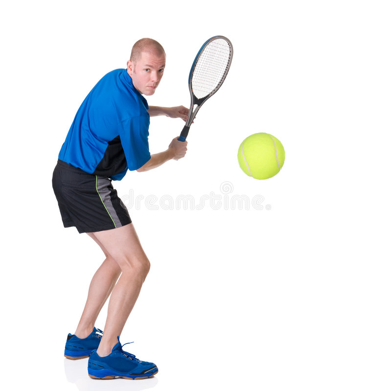 Playing tennis stock images