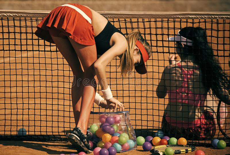 Playing tennis. Activity, energy, energetic stock images