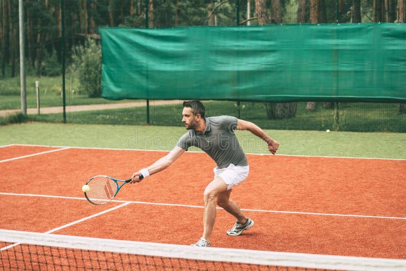Playing tennis. stock image