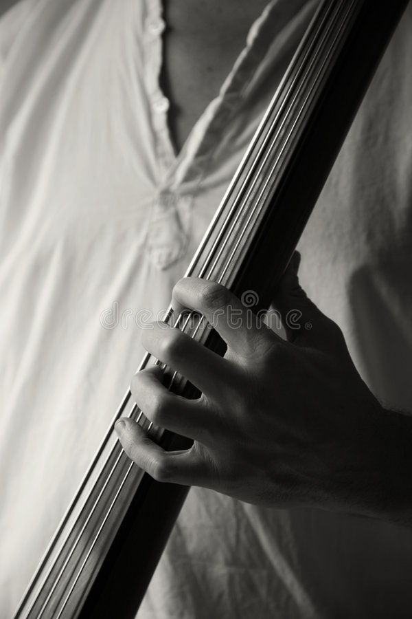 Download Playing upright bass stock image. Image of strings, diagonal - 6087091