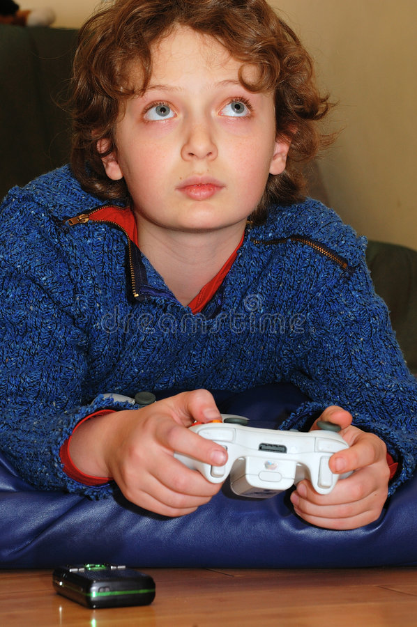 Free Playing Video Game Stock Image - 7556021