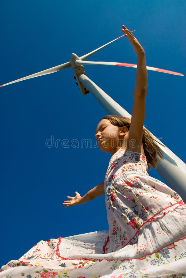 Playing in the wind royalty free stock image