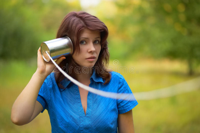 Playing woman. outdoor portrait royalty free stock images