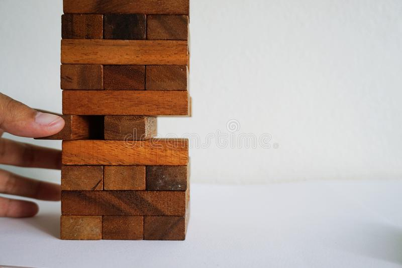 Playing the wood blocks stock images