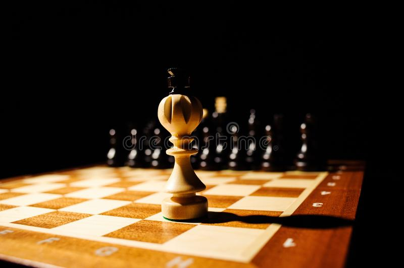 playing wooden chess pieces stock photos
