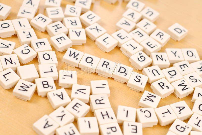 Playing Word Games stock photo
