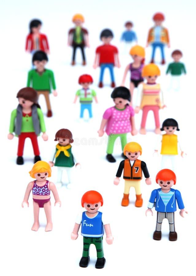 Playmobil детей и учителей стоковое изображение