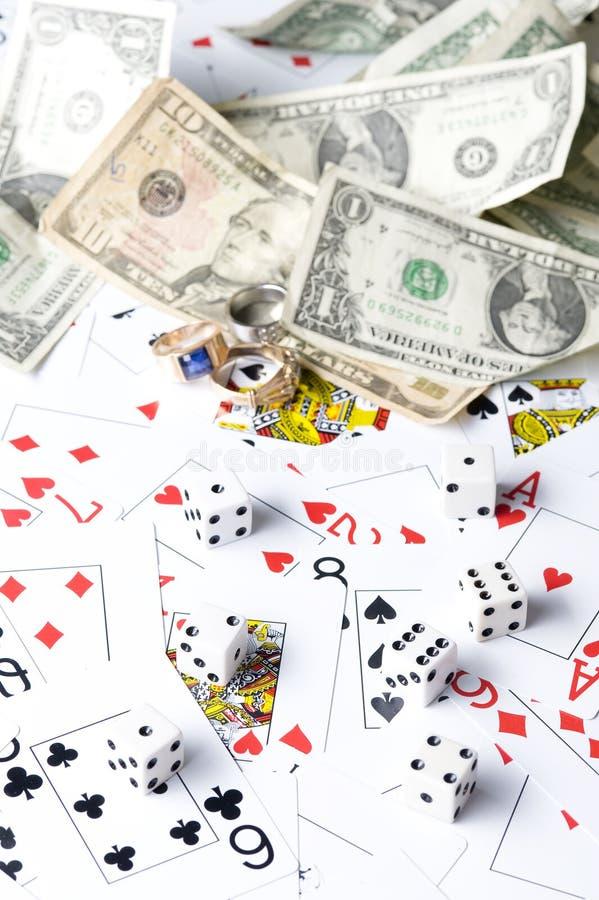 Playng dolar karta i obrazy stock
