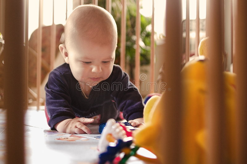 Playpen stockbild