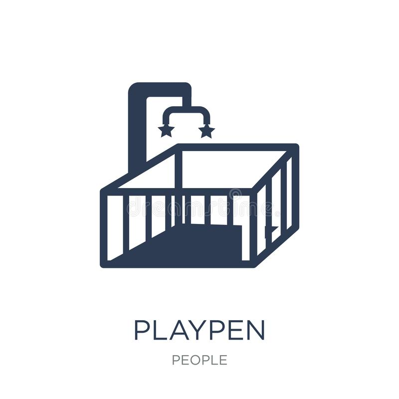 Playpen icon. Trendy flat vector Playpen icon on white background from People collection vector illustration