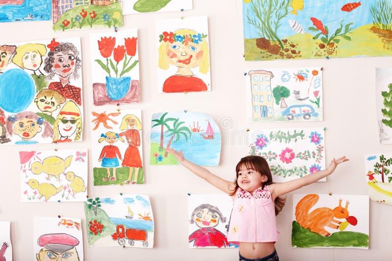 playroom för barnhandbild upp arkivfoto
