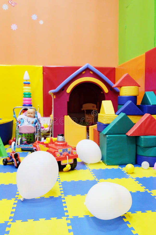 Playroom. Image of an Empty children's playroom royalty free stock photos