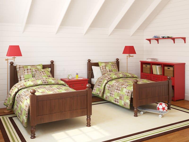 Playroom interior. royalty free illustration