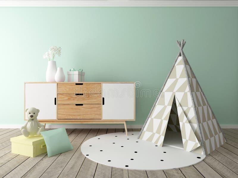 Playroom interior stock illustration