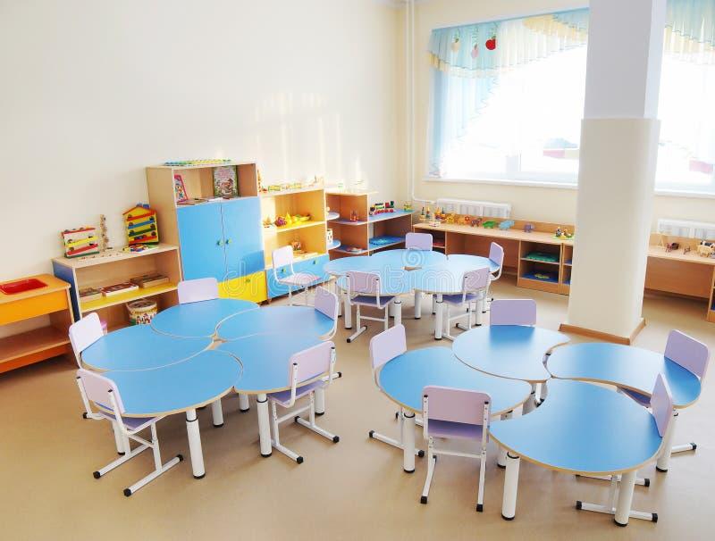 Playroom in a preschool. Interior of playroom in a preschool royalty free stock photography