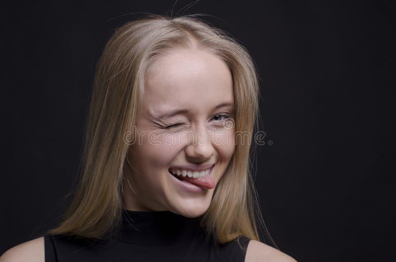 She plays the fool stock photos