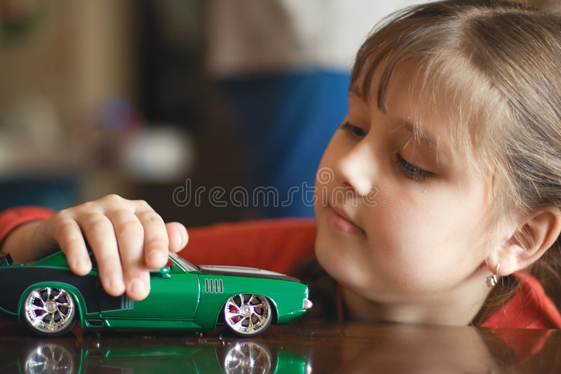 Plays model of the ancient car (4) royalty free stock images