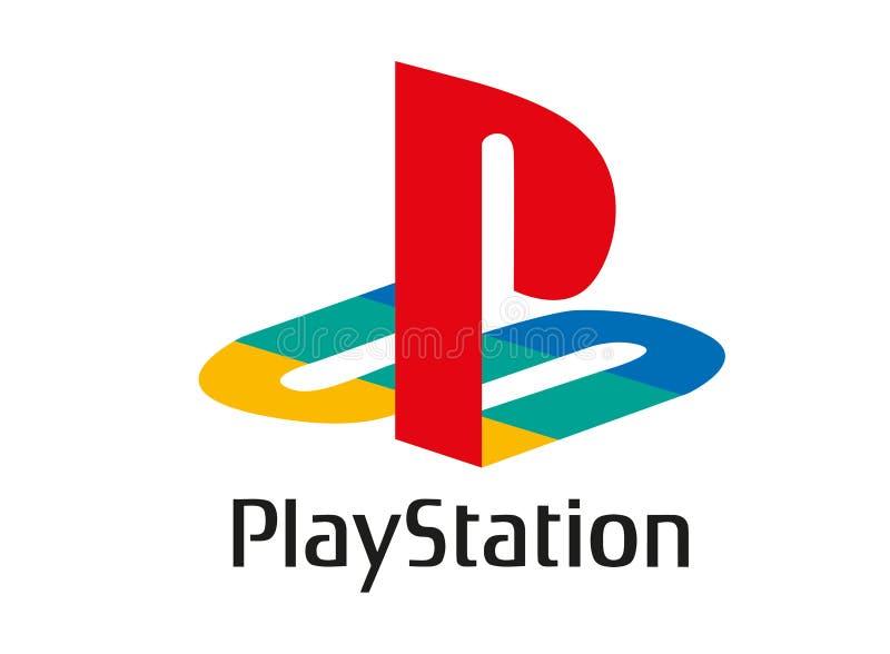 Playstation商标 皇族释放例证