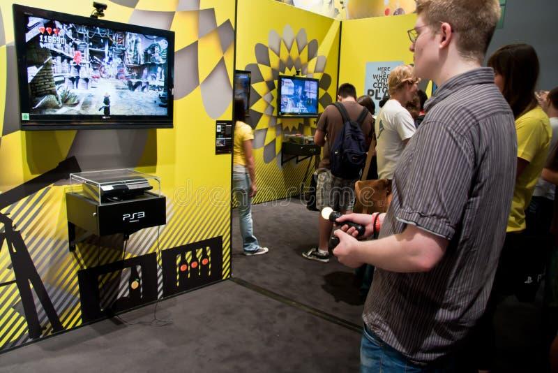 PlayStation Bewegung bei Gamescom 2010 stockfotos
