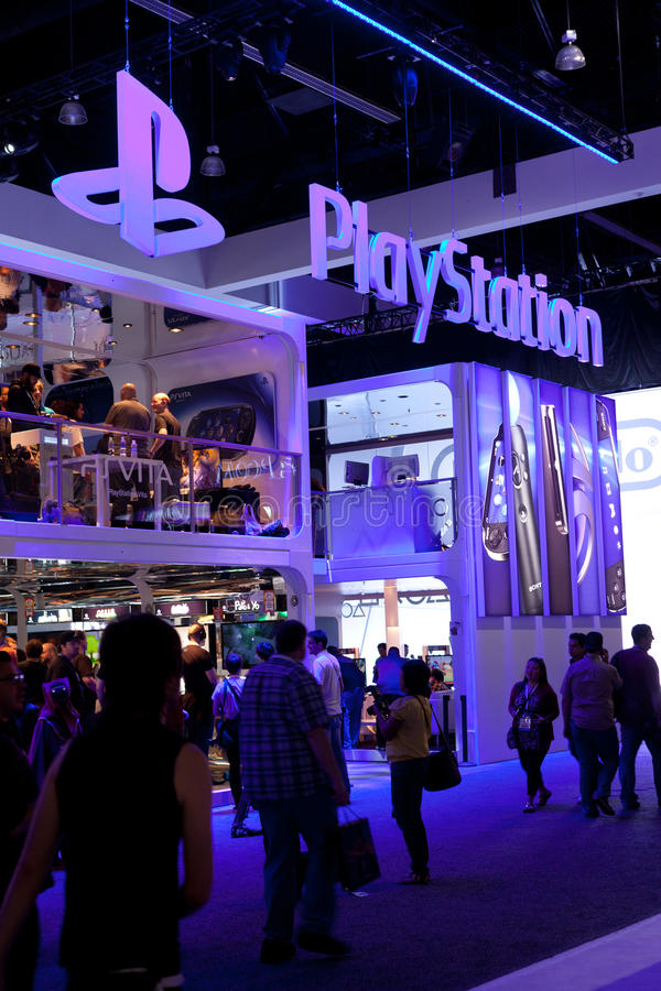 Free PlayStation Booth At E3 2011 Stock Photo - 20151160