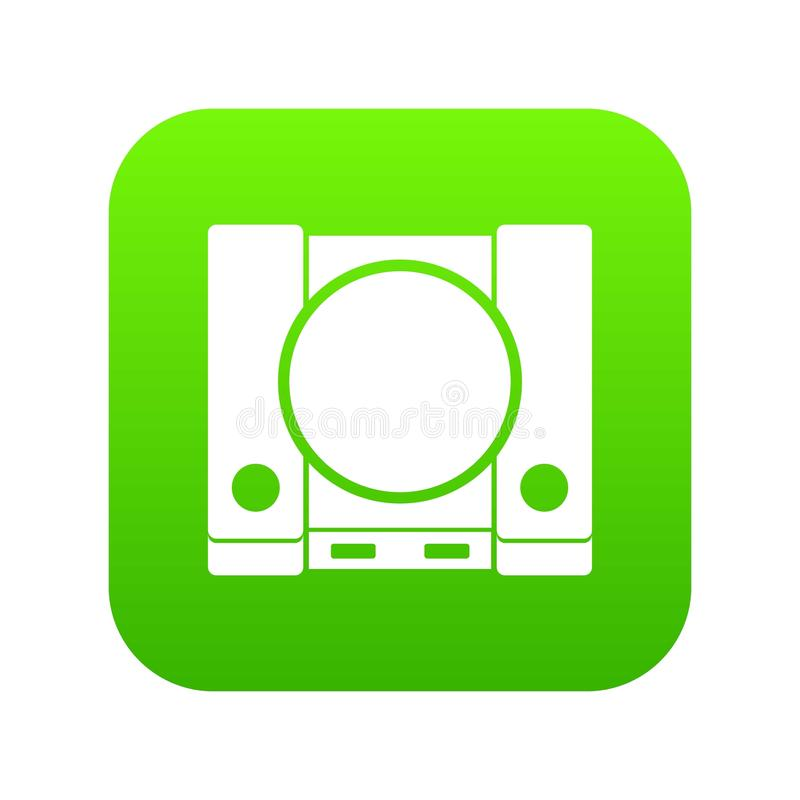 PlayStation icon digital green. For any design isolated on white vector illustration vector illustration