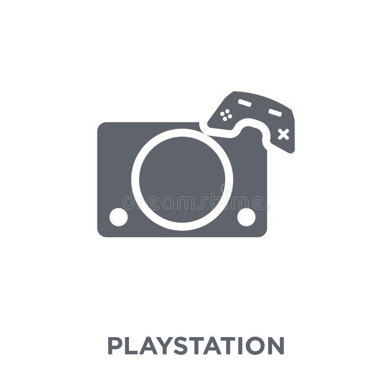 Playstation ikona od rozrywki kolekcji ilustracja wektor