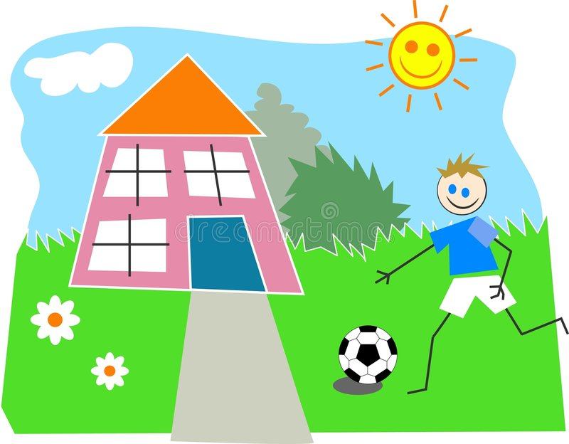 Download Playtime vektor illustrationer. Bild av illustrationer, lawn - 44776