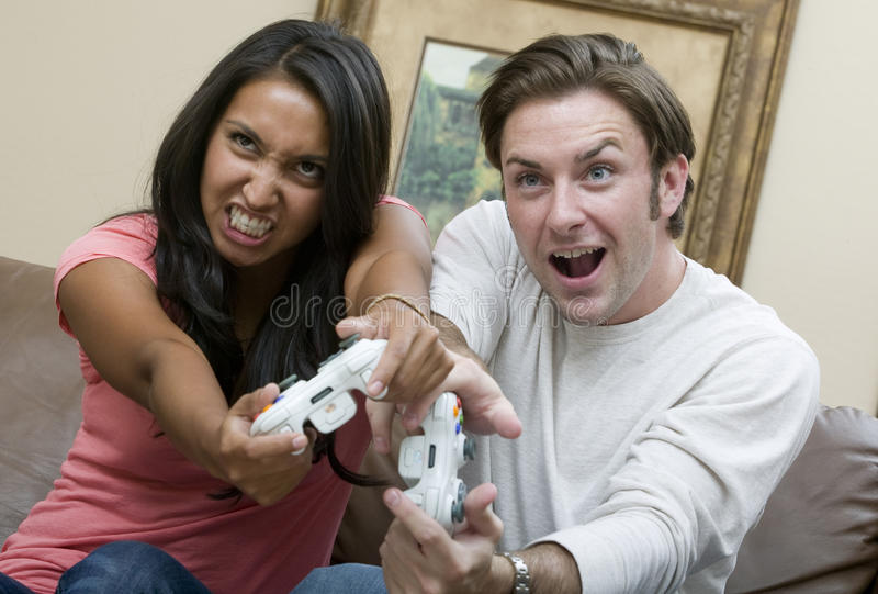 Download Playtime Battle stock photo. Image of couple, attractive - 10231168