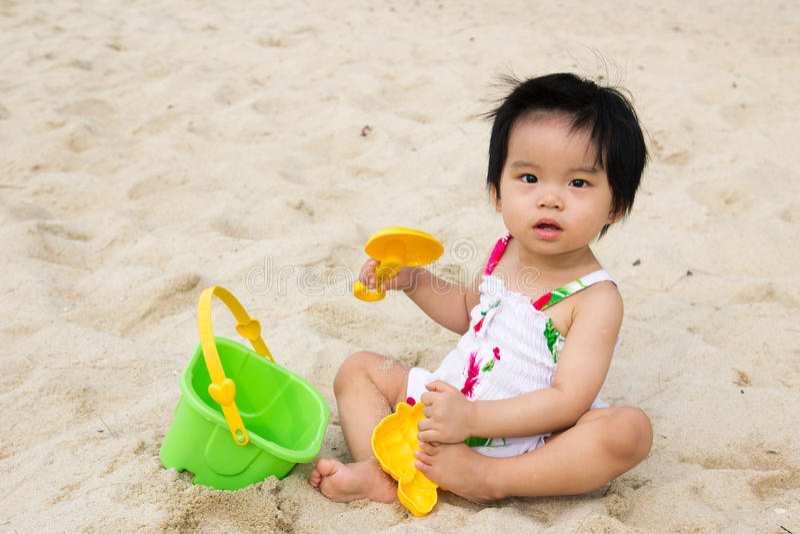 Playtime della spiaggia immagini stock libere da diritti