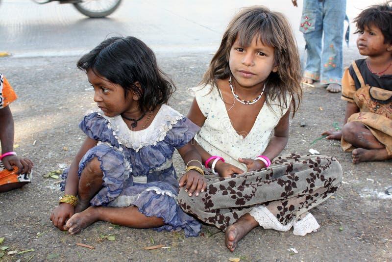 Playtime nella povertà fotografia stock