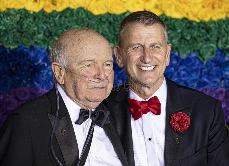 Terrence McNally at the 73rd Annual Tony Awards stock images